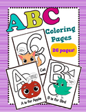 Back to School: ABC Coloring Activity Page Printables for