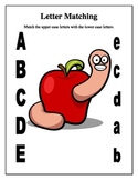 Back-to-School ABC Letter Matching Worksheets