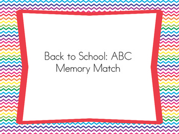 Back to School: ABC Memory
