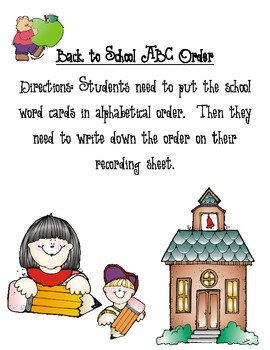 Back to School ABC Order