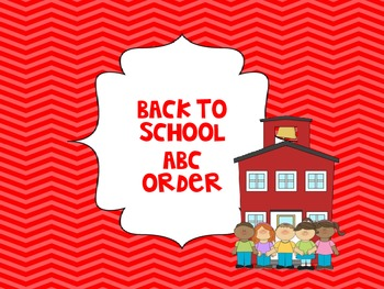 FREE Back to School ABC Order