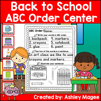 Back to School ABC Order Center/Station with differentiation options