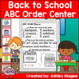 Back to School ABC Order Center/Station with differentiati