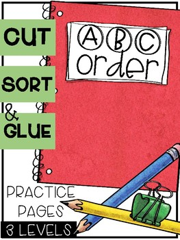 Back to School ABC Order Sorts (3 Levels)