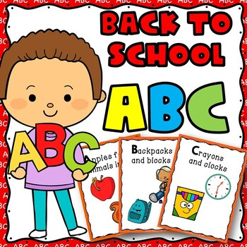 Back to School ABC Poem, Emergent reader booklets in colour and black and white!
