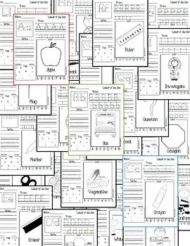 Back to School ABC: alphabet traceables NO PREP