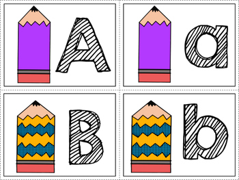 Back to School ABC matching