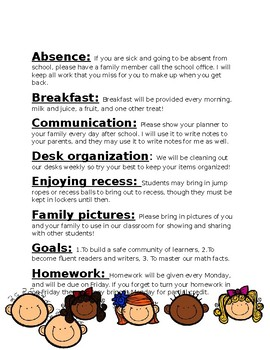 Back to School: ABC's of your classroom: EDITABLE