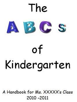 Back to School - ABCs of Kindergarten Handbook