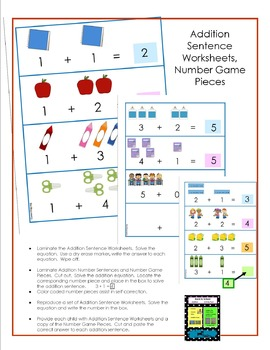 Back to School - ADDITION Activity Pack