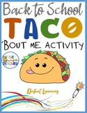 All About Me | Back to School | Let'sTaco'BoutME (PDF) #AllAboutMe