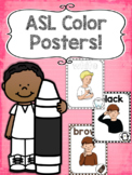 Back to School ASL Color Posters!