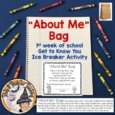 Back to School All About Me Bags Get to Know You Ice Break