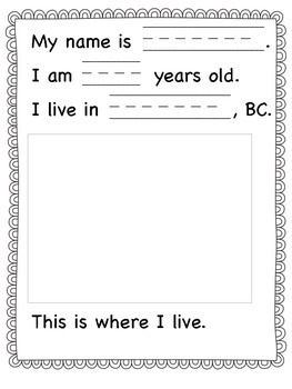 Back to School About Me Book