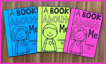 Back to School About Me Book - A Book About Me!