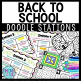 Back to School About Me Doodle Stations - Icebreaker Activity!