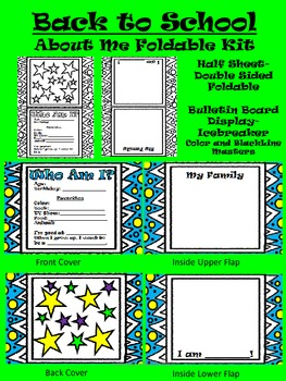 Back to School About Me Foldable Kit-Icebreaker Activity-Bulletin Board