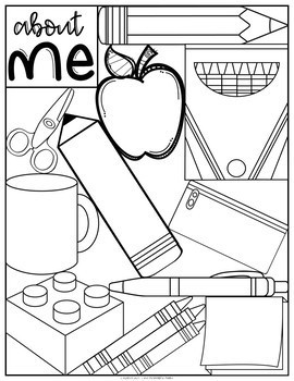 Back-to-School About Me Survey and Coloring Sheet