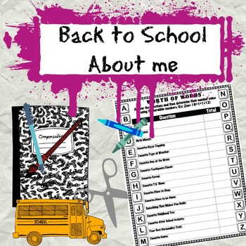 Back to School About Me: The Worth of Words