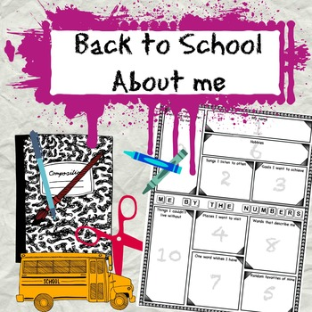 Back to School About Me by the Numbers