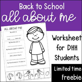Back to School: About Me for DHH Students