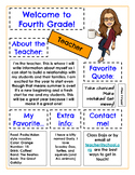 """Back to School About the Teacher and BONUS """"About You"""" for students"""