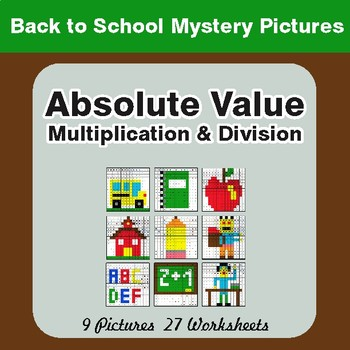 Back to School: Absolute Value (Multiplication & Division) Mystery Pictures