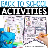 Back to School - Engaging Activities for First Weeks of School