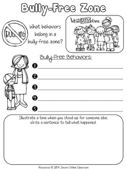 No Stress!  1st Day of School Activities Packet