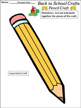 Back-to-School Activities: Back-to-School Construction Crafts