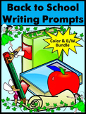 Back to School Activities: Back to School Writing Prompts Bundle - Color & B/W