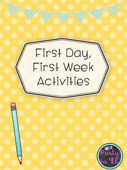 Back to School Activities!
