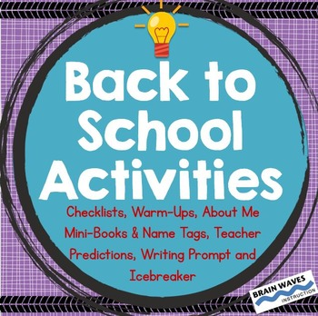 Back to School Activities, 1st Day of School, All About Me