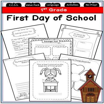 Back to School 1st Grade