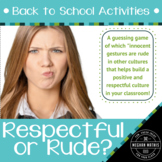 Back to School Activities - Respectful or Rude?