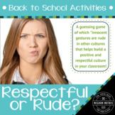 Back to School Activities - Respectful or Rude?