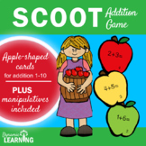 Fall Activities First Grade:Apple Scoot Math Game for Addi