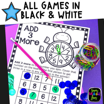 Spring Math - Addition Games (1's to 12's) - Build Fact Fluency!