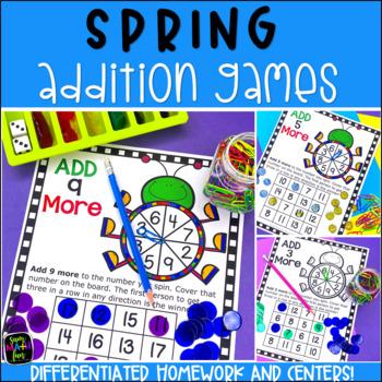 Addition Games:Differentiated No Prep