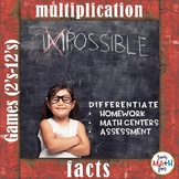 Multiplication Facts Games (2's to 12's) - Build Fact Fluency!