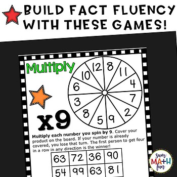 Multiplication Games (2's to 12's) - Build Fact Fluency!