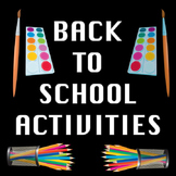 Back to School All About Me Writing Activities