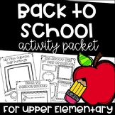 Back to School Activities for Upper Elementary