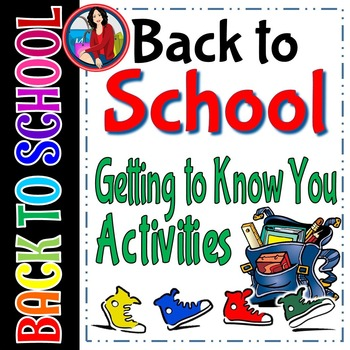 Back to School Getting to Know You Activities