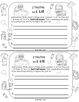 All About Me Icebreakers - Back to School Activity Pack