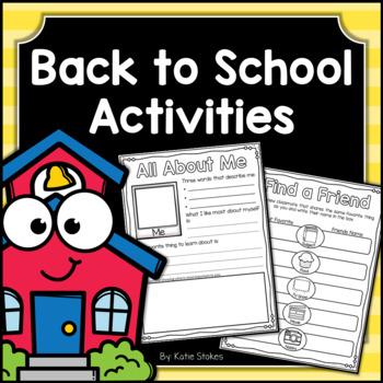 Back to School Activities & Booklet
