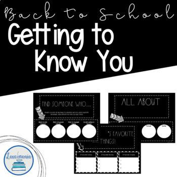 Digital Back to School Activities