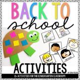 Back to School Activities {Kindergarten}
