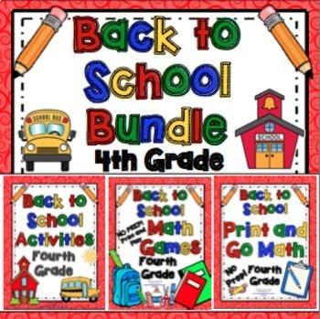 Back to School Activities - 4th Grade