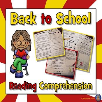 First Day of School Activities: Back to School Activities Reading